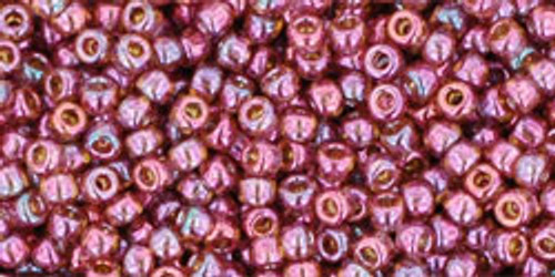 Toho Seed Beads 11/0 Rounds #28 Gold-Lustered Marionberry 50g