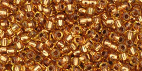 Toho Seed Beads 11/0 Rounds #34 Copper-Lined Light Topaz 20 Grams