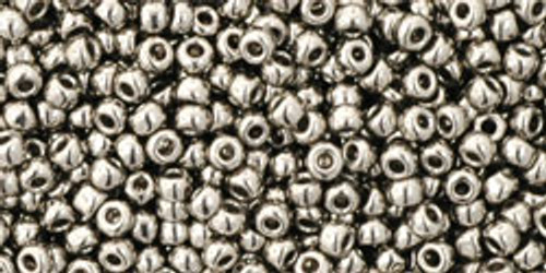 TOHO Seed Beads 11/0 Rounds #43 Metallic Nickel 50 Grams