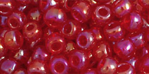 TOHO Seed Beads 6/0 Rounds Transparent-Rainbow Ruby