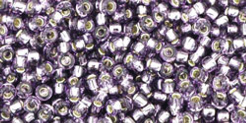 TOHO Seed Beads 11/0 Rounds Silver-Lined Tanzanite