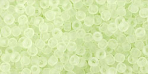 TOHO Seed Beads 11/0 Rounds Transparent Frosted Citrus Spritz