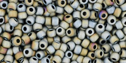 Toho Seed Beads 11/0 Rounds #82 Matte Color Iris Gray 20 Grams
