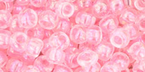 TOHO Seed Beads 6/0 Rounds Transparent-Rainbow Ballerina Pink