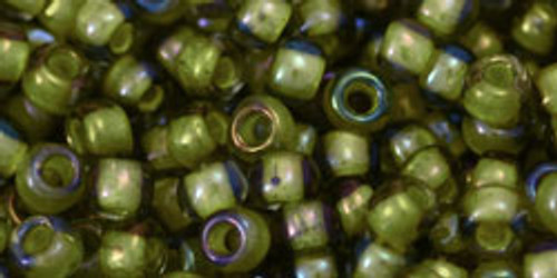 Toho Seed Beads 6/0 Rounds 'Luster-Black Diamond/Opaque Yellow' Lined 8 gram TR-06-246