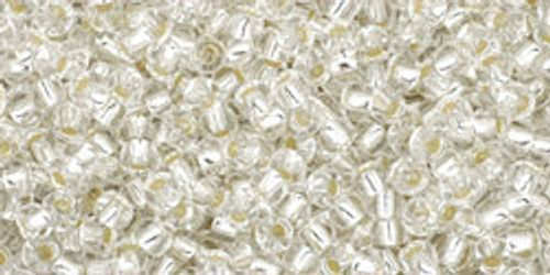 Toho Seed Beads 11/0 Rounds #109 Silver-Lined Crystal 20 Grams