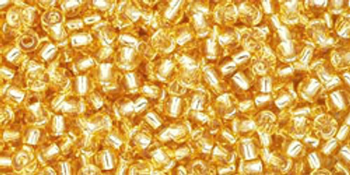 Toho Seed Beads 11/0 Rounds #120 Silver-Lined Light Topaz 50 gr