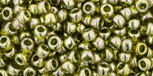 Toho Seed Beads 8/0 Rounds #31 Gold-Lustered Green Tea 50 gram