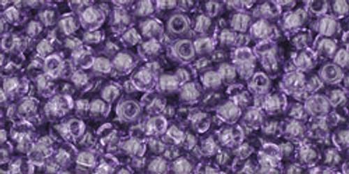 Toho Seed Bead 11/0 Round #126 Transparent Sugar Plum 50 Grams