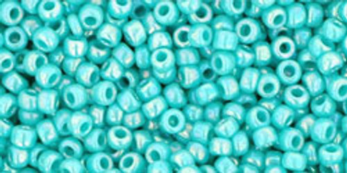 TOHO Seed Beads 11/0 Rounds #130 Opaque Rainbow Turquoise 50 gram