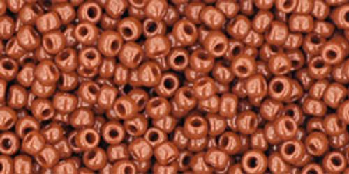 TOHO Seed Beads 11/0 Rounds #142 Opaque Terra Cotta 20 Grams