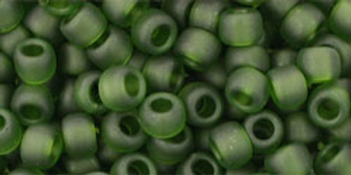 TOHO Seed Beads 6/0 Rounds Transparent-Frosted Olivine