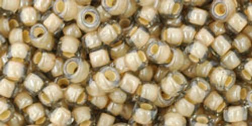 Toho Beads 6/0 Rounds In-'Black Diamond, Orange Cream Lined' 8 gram