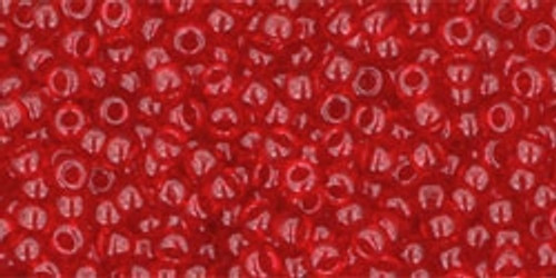 Toho Seed Bead 11/0 Round #151 Transparent Ruby 50 Grams