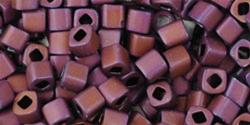 TOHO Seed Beads 3mm Cubes Matte-Color Mauve Mocha