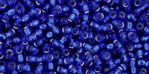 Toho Seed Beads 11/0 Rounds #163 Silver-Lined Cobalt 20 Grams