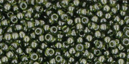Toho Seed Bead 11/0 Round #182 Transparent Olivine 20 Grams