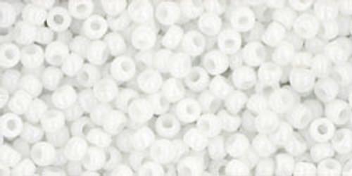 TOHO Seed Beads 11/0 Rounds #187 Opaque White 20 Grams