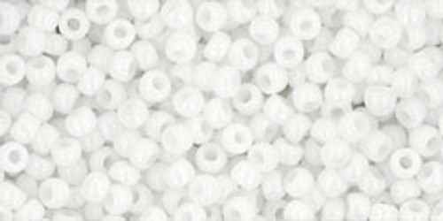 TOHO Seed Beads 11/0 Rounds #187 Opaque White 50 Grams