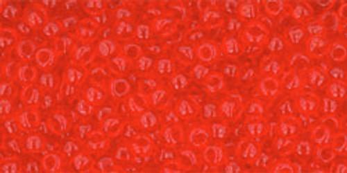 Toho Seed Beads 11/0 Rounds Transparent Light Siam Ruby