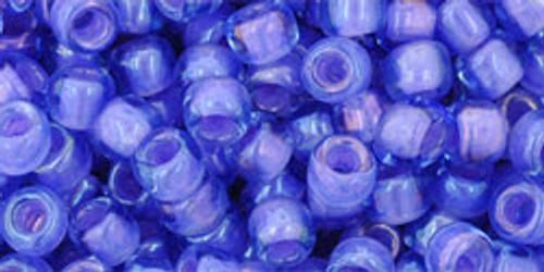 TOHO Seed Beads 6/0 Rounds Inside-Color Light Sapphire/Opaque Purple Lined