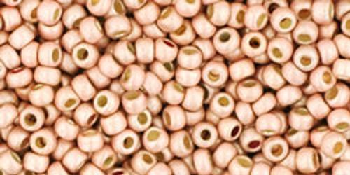 Toho Seed Bead 11/0 Round #211 Permanent Finish Matte Galvanized Peach Coral 20 grams