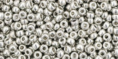 TOHO Seed Beads 11/0 Rounds #212 Metallic-Silver Silver 20 Grams