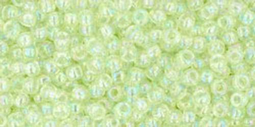 Toho Seed Beads 11/0 Rounds Dyed Transparent Rainbow Lemon Mist