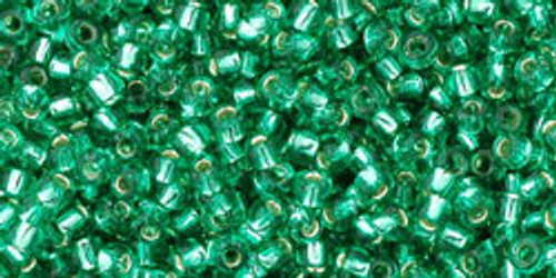 Toho Seed Beads 11/0 Rounds Silver-Lined Dark Peridot