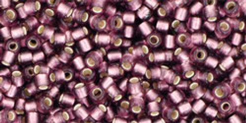 Toho Seed Bead 11/0 Round Silver-Lined Frosted Medium Amethyst