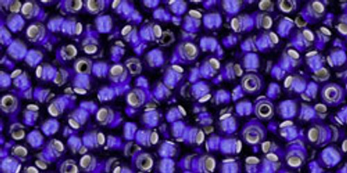 Toho Seed Beads 11/0 Rounds Silver-Lined Frosted Cobalt