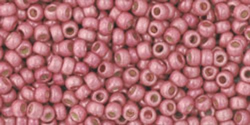 Toho seed Beads 11/0 Rounds #215 Permanent Finish Matte Galvanized Pink Lilac 20 grams