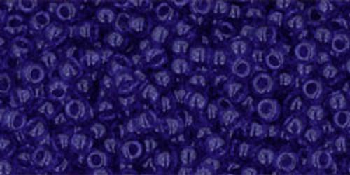 Toho Seed Bead 11/0 Round #221 Transparent Cobalt 50 Grams