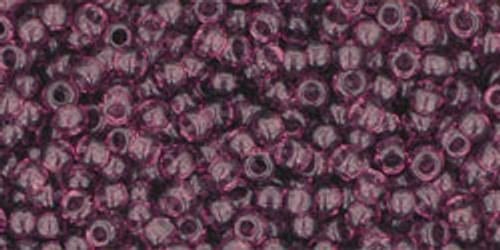 Toho Seed Bead 11/0 Round #224 Transparent Medium Amethyst 20 gr