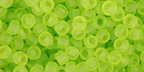 Toho Seed Beads 8/0 Rounds Transparent-Frosted Lime Green 8 gram