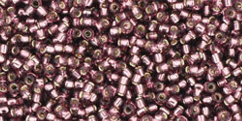 Toho Seed Beads 15/0 Rounds Silver-Lined Medium Amethyst