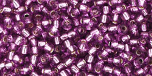 Toho Seed Beads 11/0 Rounds Silver-Lined Light Grape
