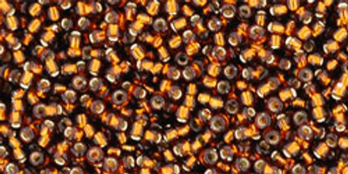 Toho Seed Beads 15/0 Rounds Silver-Lined Smoky Topaz