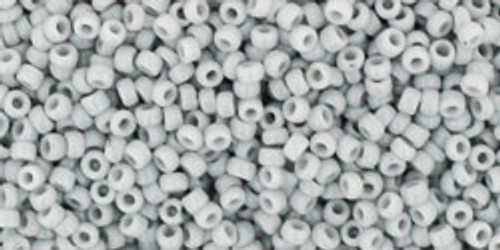 Toho Seed Beads 15/0 Rounds Opaque Gray