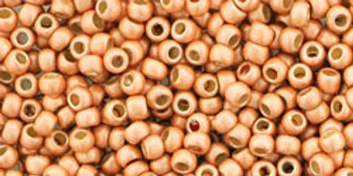 TOHO Seed Beads 11/0 Rounds #235 Permanent Finish Matte Galvanized Rose Gold 50 Grams