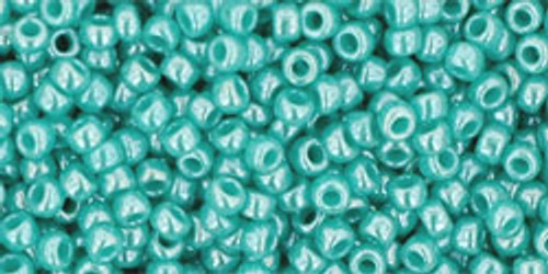 Toho Seed Beads 11/0 Rounds #243 Opaque-Lustered Turquoise 50 gram
