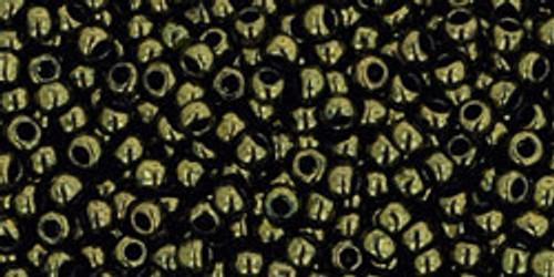 Toho Beads 11/0 Round #246 Gold-Lustered Dark Chocolate Bronze 50 grams