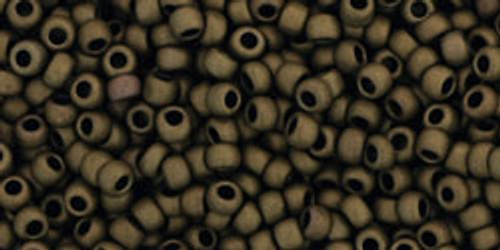 Toho Seed Beads 11/0 Round #256 Antique Frosted Metallic Bronze 50g
