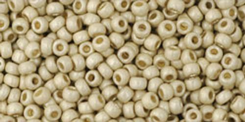 TOHO Seed Beads 11/0 Rounds #257 Permanent Finish Matte Galvanized Aluminum 20 Grams