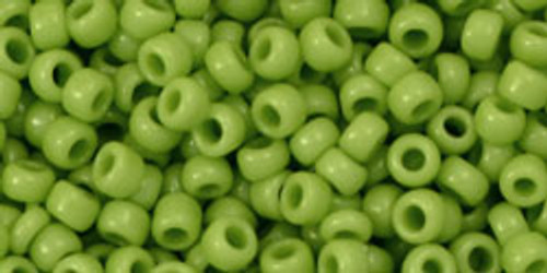 Toho Seed Beads 8/0 Rounds Opaque Sour Apple