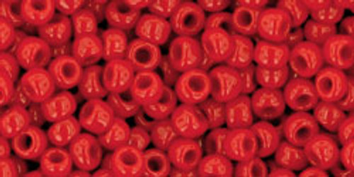 Toho Seed Beads 8/0 Rounds Opaque Pepper Red