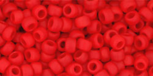 Toho Seed Beads 8/0 Rounds Opaque-Frosted Cherry