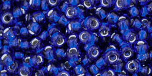 TOHO Seed Beads 8/0 Rounds #52 Silver-Lined Cobalt 50 Grams