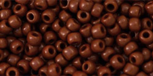 Toho Seed Beads 8/0 Rounds Opaque Terra Cotta