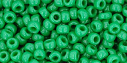 Toho Seed Beads 8/0 Rounds Opaque Shamrock